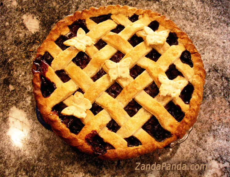 Blueberry Lattice Butterfly Pie