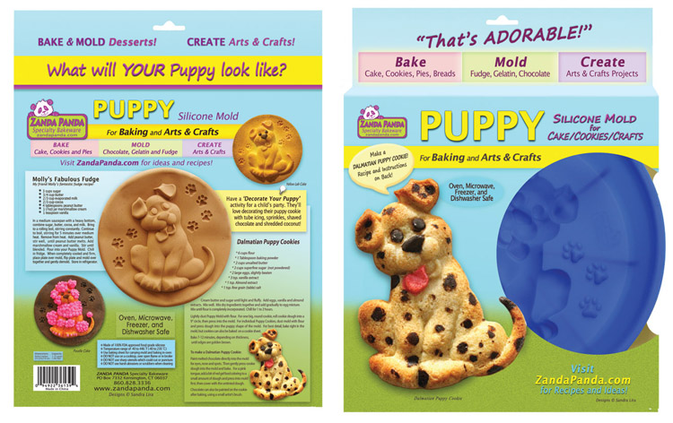 ZANDA PANDA   Puppy Mold Packaging