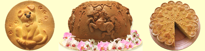 Traditional Baking with ZANDA PANDA molds - Puppy, Unicorn and Kaleidoscope Heart Cakes