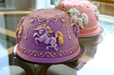 ZP Unicorn Cakes, Purple Chocolate and Cameo Finsih